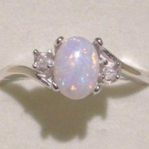 @2l Exquisite Solid St Nat Gemstone Opal Iridescen
